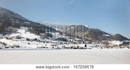 Swiss Alps Near Davos, Switzerland