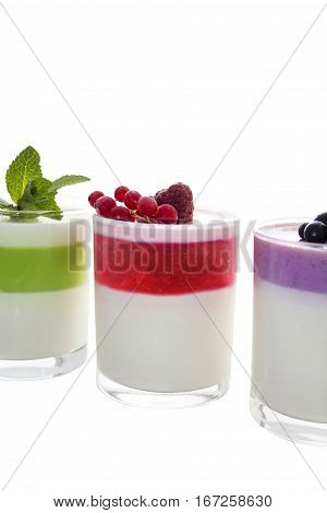 Panna cotta (cooked cream) is an Italian dessert of sweetened cream thickened with gelatin and molded. The cream may be aromatized with rum coffee vanilla or other flavorings.