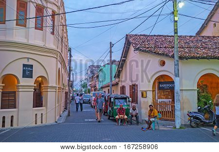 The Tourist Streets Of Galle