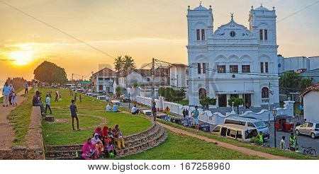 Sunset In Old Galle