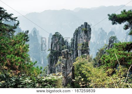 Fantastic View Of Quartz Sandstone Pillars (avatar Mountains)