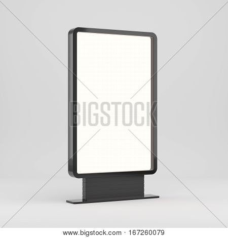 Lightboxe Isolated On white Background. 3D rendering. Template for your Design