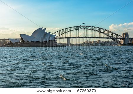 Sydney Opera House Sydney Australia . JAN 29,2017 Sydney Opera House is modern building, well known worldwide.