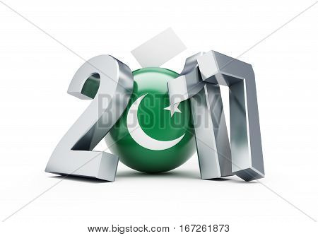 Elections in Pakistan 2017 3d Illustrations on a white background