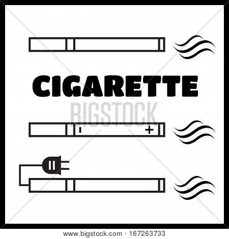 Smoking vs Electronic Cigarette or Vaporizer Device vector