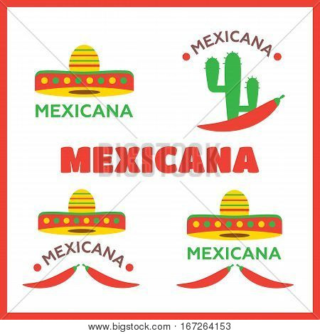 Mexican food logo. Mexican Fast food logotype template vector