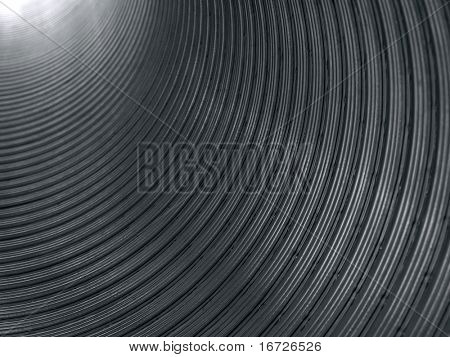 Corrugated tube.