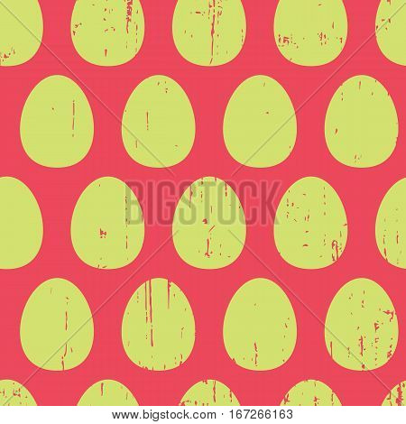 Abstract retro pattern with trendy eggs. Cute vector whimsical retro pattern. Seamless creative retro pattern for fabric, wallpapers, wrapping paper, cards and web backgrounds.
