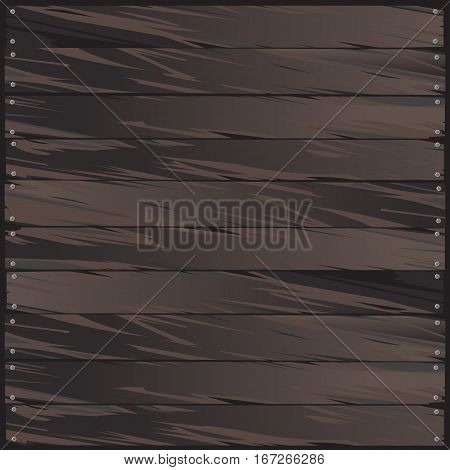Vector wood pattern. Detail of brown wood. Ilustration of wooden background. Wood texture