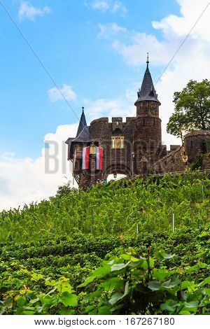 Reichsburg Cochem on the River Moselle, Germany