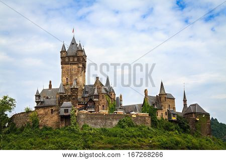 View of the Castle Cochem in Germany.