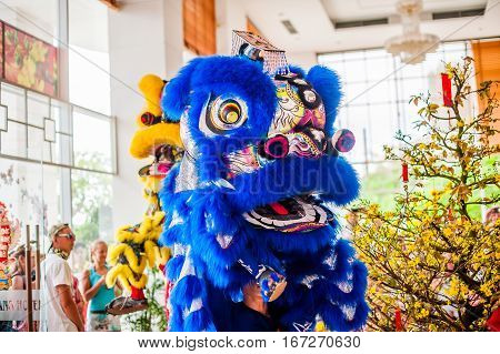 Lunar New Year Asian Dragon Coming Vietnamese New Year
