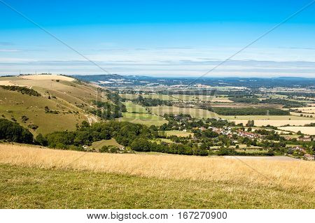 View of South Downs, East Sussex, UK