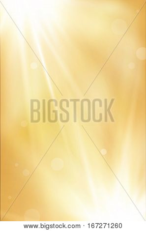 Golden Abstract Background With Shiny Rays