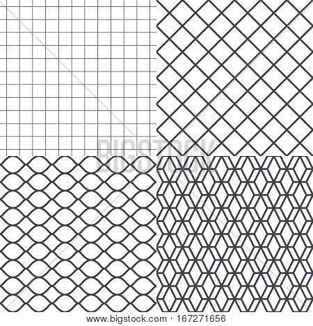 Net, wire and cage background vector illustration