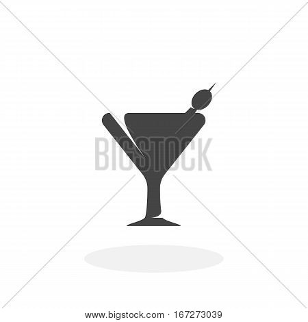 Martini icon isolated on white background. Martini vector logo. Flat design style. Modern vector pictogram for web graphics - stock vector