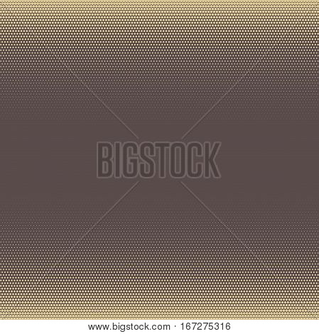 Seamless geometric vector brown and golden pattern. Modern ornament with dotted elements. Geometric abstract pattern