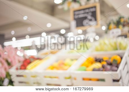 Supermarket Blur Background With Bokeh.