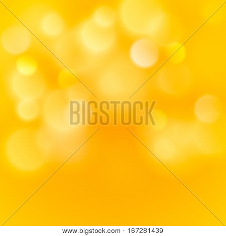 Abstract colorful bokeh light backgrounds blur bokeh blurred blurred office gold orange yellow background. Vector illustration