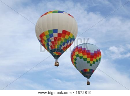 Two Hot Air Baloons