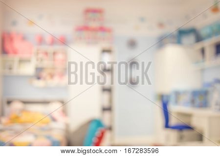 Interior Of Colorful Bedroom For Child.