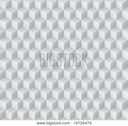 Embossed cuboids abstract background. (See more seamless backgrounds in my portfolio).