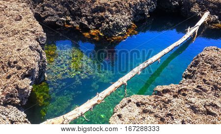 Natural pools in the Caribean of Costa Rica