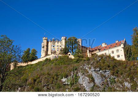 Hohenschwangau castle in Bavarian alps, Germany