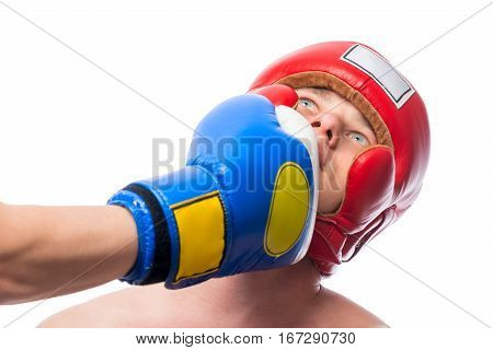 Uppercut Punch In The Face From The Bottom Opponent Isolation
