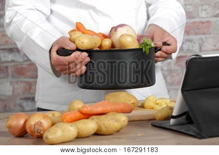 Vegetables for the preparation of French pot-au-feu