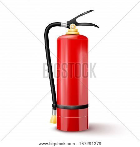 Red Fire extinguisher. Vector illustration EPS 10