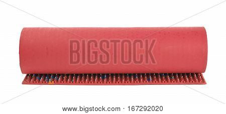 Orthopedic mat with spikes isolated over the white background