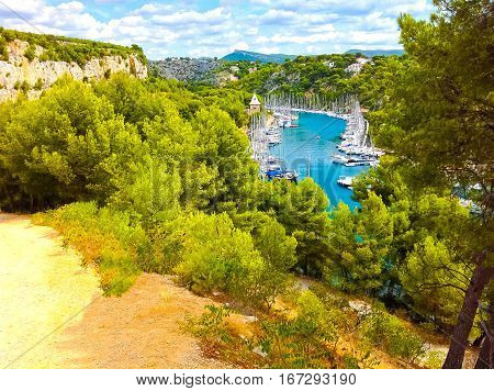 Calanque between Marseille and Cassis Provence France