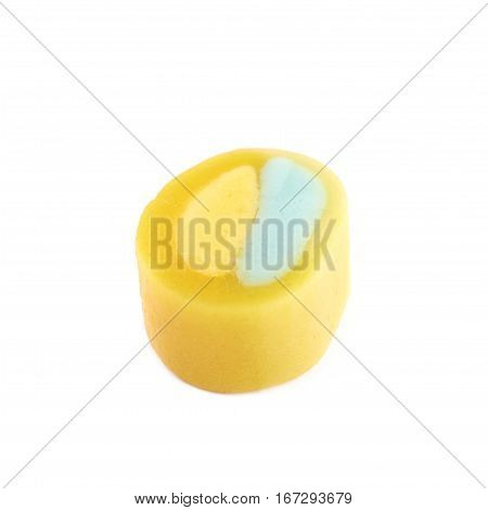 Single licorice candy isolated over the white background