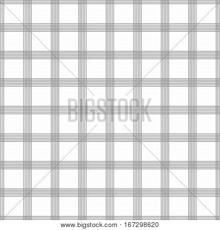 Seamless tartan pattern. Grey kilt fabric texture. Abstract vertical and horizontal lines. Vector illustration
