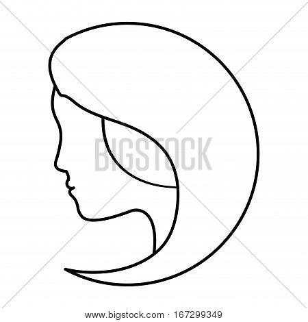 figure feminist defense image icon, vector illustration design