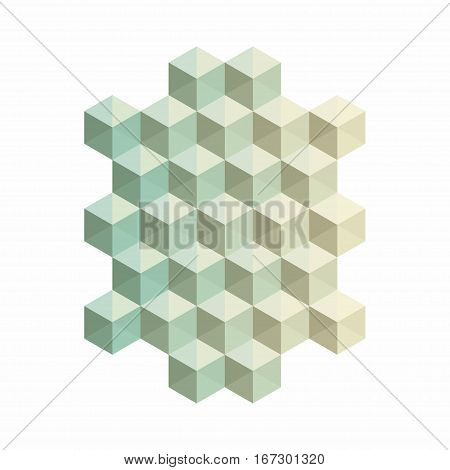 Abstract cubic background. Geometric decoration with blended colors. Creative design templates. Vector illustration