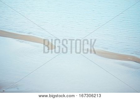 View on lagoon with ripple on the water