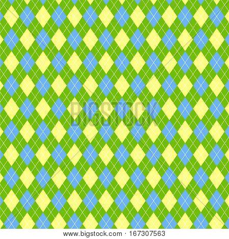 Green Tartan Vintage Background Vector Illustration. argyle pattern. Flat design. Vector illustration.