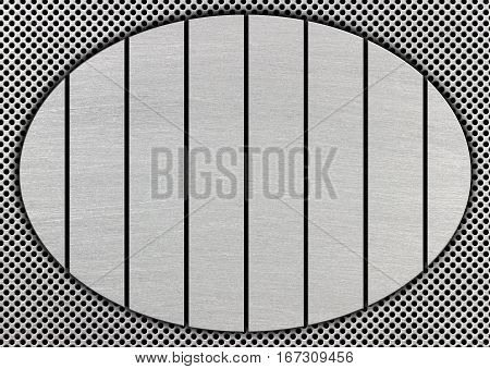 Metal Plates And Grid Surface As A Background For The Design