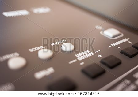 Control Buttons For Electronic Musical Keyboard