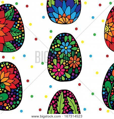 Seamless pattern with Easter egg. Can be used for printing on fabric for wrapping paper and for the background of the site.