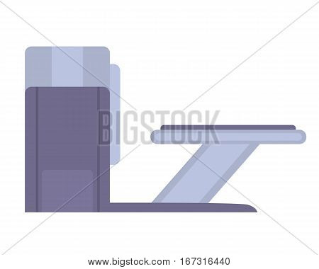 Tomography scanner isolated on white background. Magnetic resonance imaging. Vector illustration