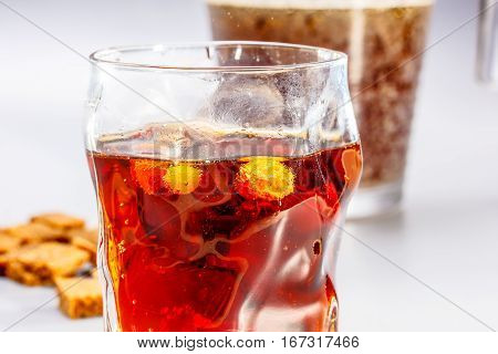 The traditional Russian drink - kvass, which is made from rye bread.