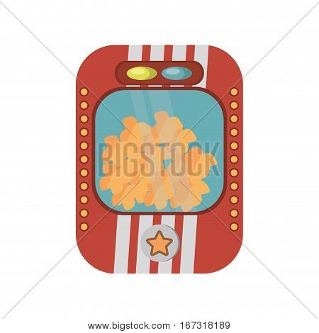 popcorn machine fast food movie vector illustration eps 10