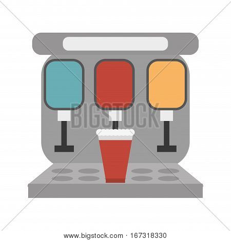 vending machine soda cinema vector illustration eps 10