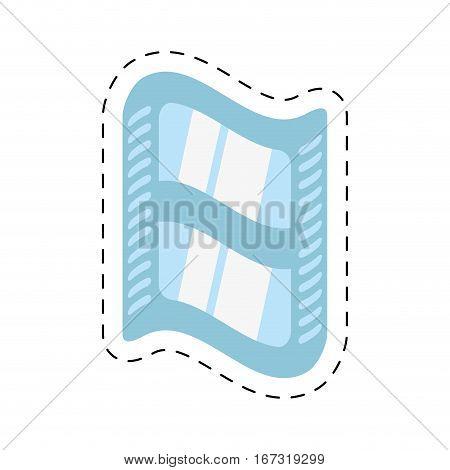 cinema film strip tape cut line vector illustration eps 10