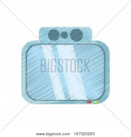drawing tv channel movie sound vector illustration eps 10