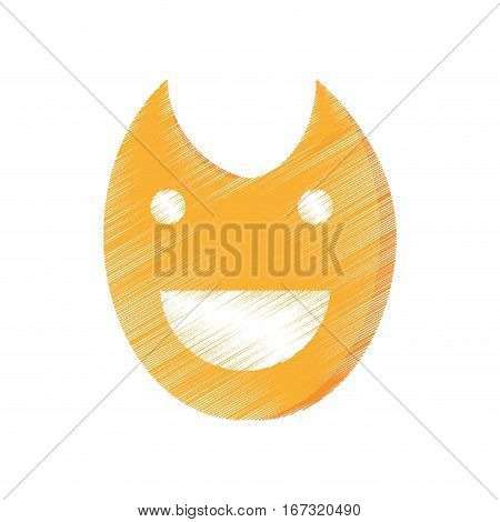 drawing theatre mask comedy icon vector illustration eps 10