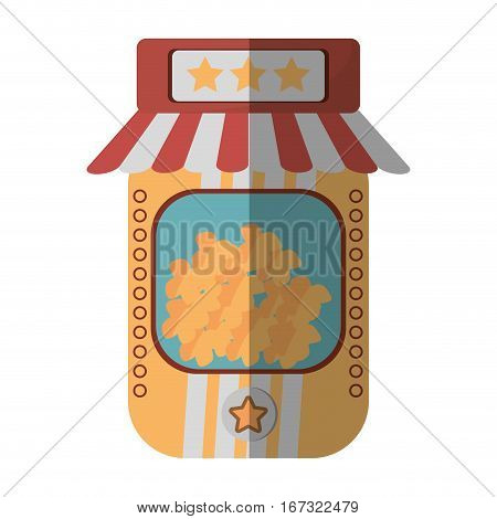cartoon popcorn machine fast food movie vector illustration eps 10